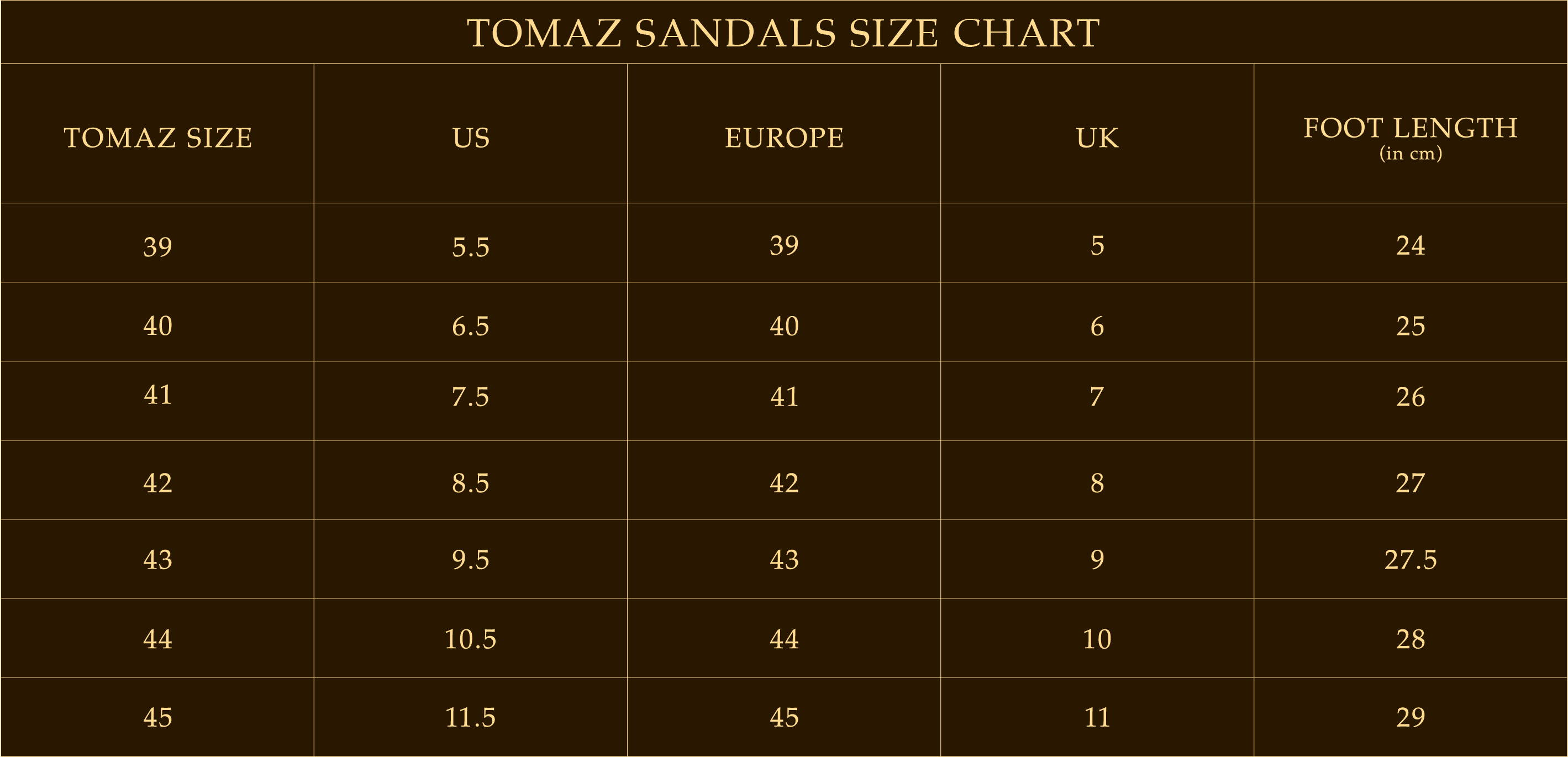 Tomaz Shoes Official Website Sandal Kulit Pria Rc237 Below Is The Size Chart For Reference According To Shoe Category All Measurements Are In Centimetres