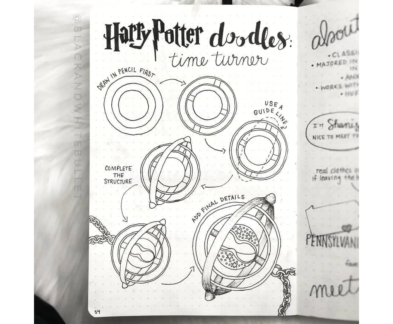 Harry potter vẽ nguệch ngoạc