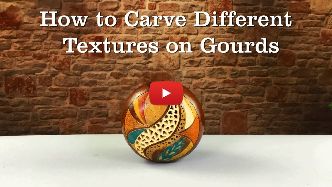 Watch How to Carve Different Textures on Gourds!