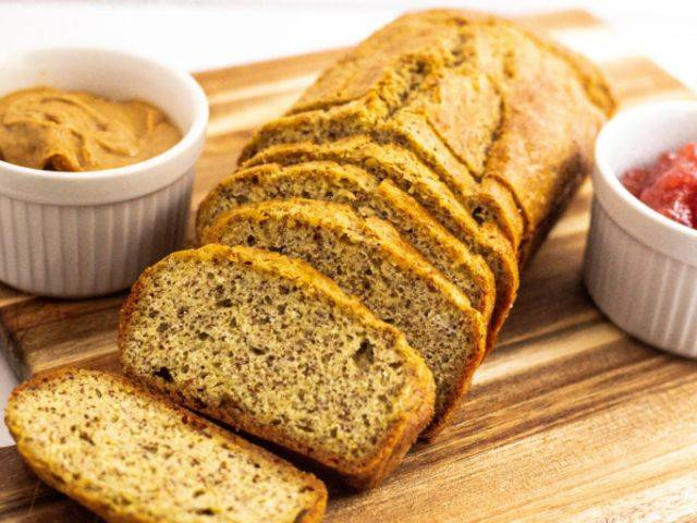 Brot cétogène im Mandelmehl