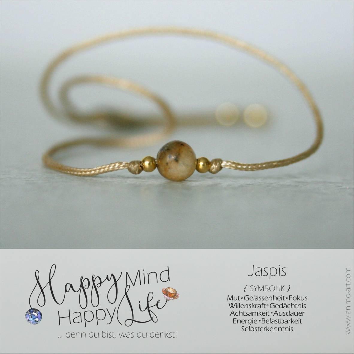 Jasper Bedeutung / Schmuck mit Jasper-Edelstein in beige braun, Happy Mind Happy Life
