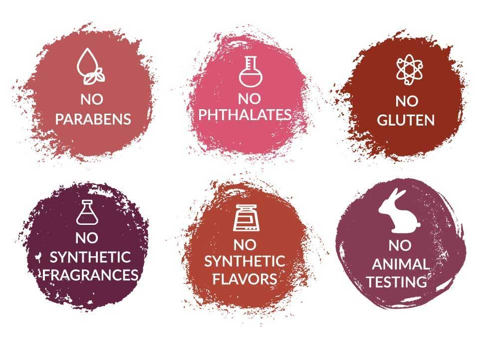 Plum & York includes no parabens, no phthalates, no gluten, no synthetic fragrances, no synthetic flavors, no animal testing