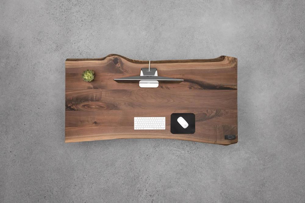 sit-stand desk - walnut - ergonofis