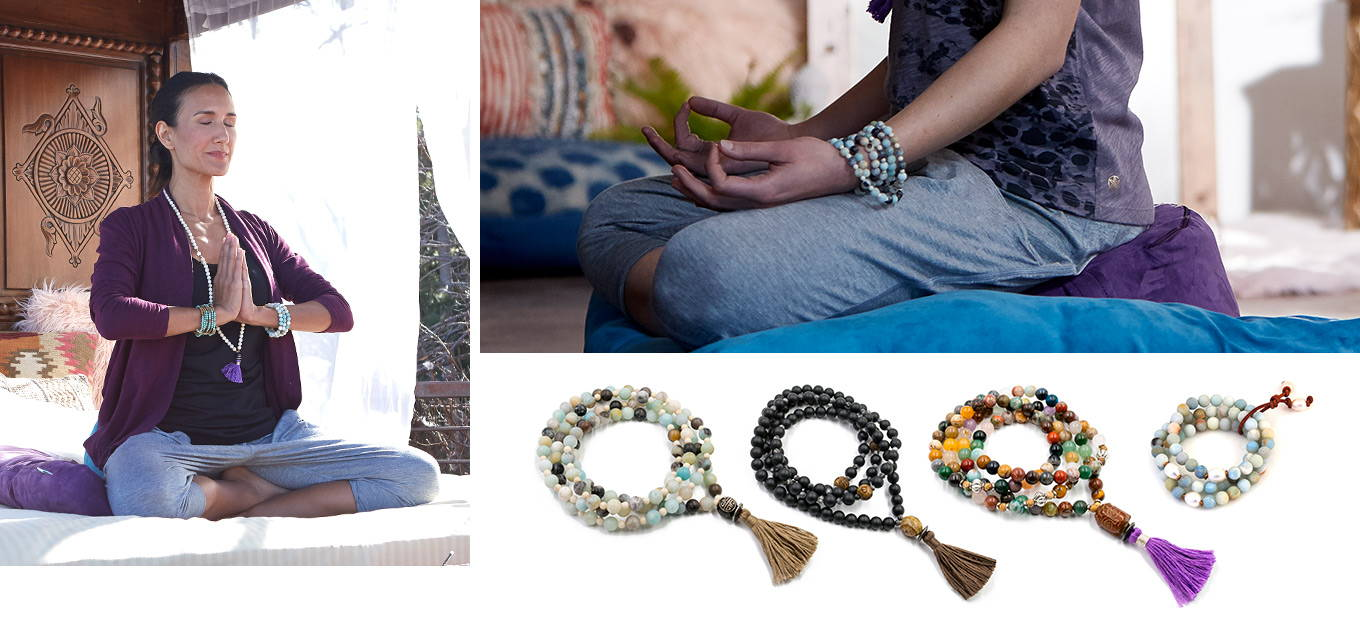 Jewerly and mala beads to accessorize your practice