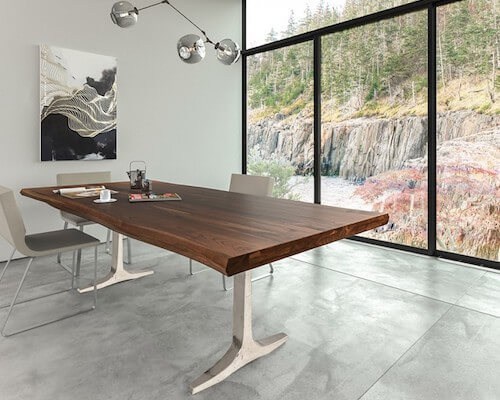 Saloom Apollo Walnut Dining Table