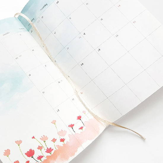 Bookmark - O-CHECK 2020 Shiny days hardcover dated weekly diary planner