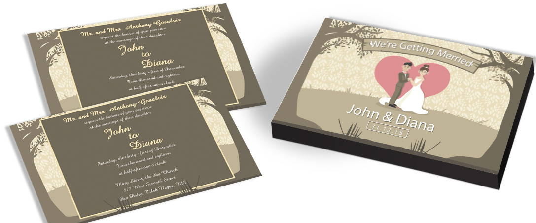 Forest Trees Wedding Invitation