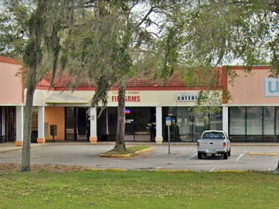 Florida Shore Firearms storefront and parking lot
