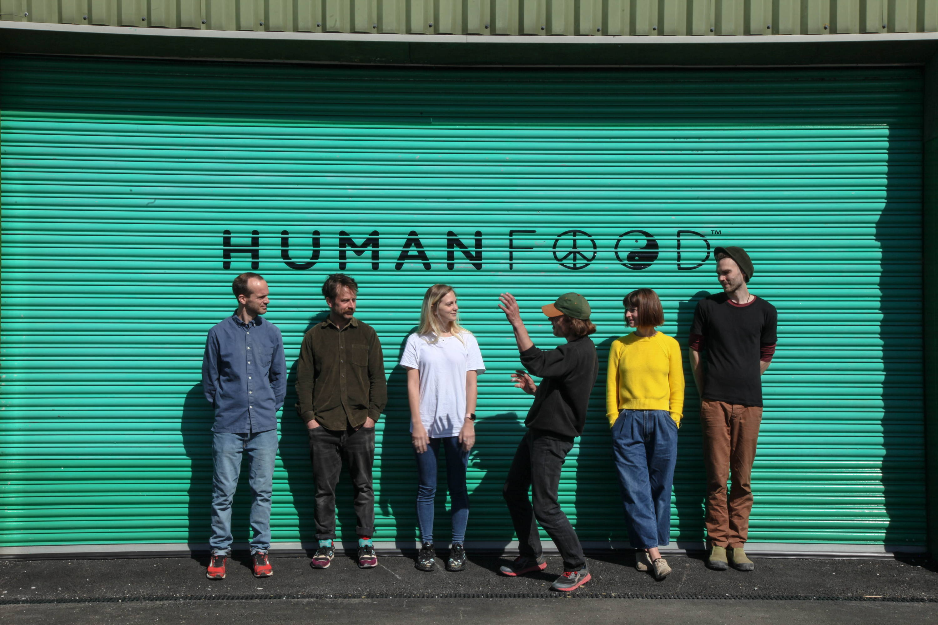 The human food team outside their office