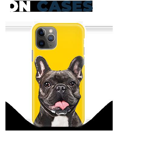 french bulldog art on phone case