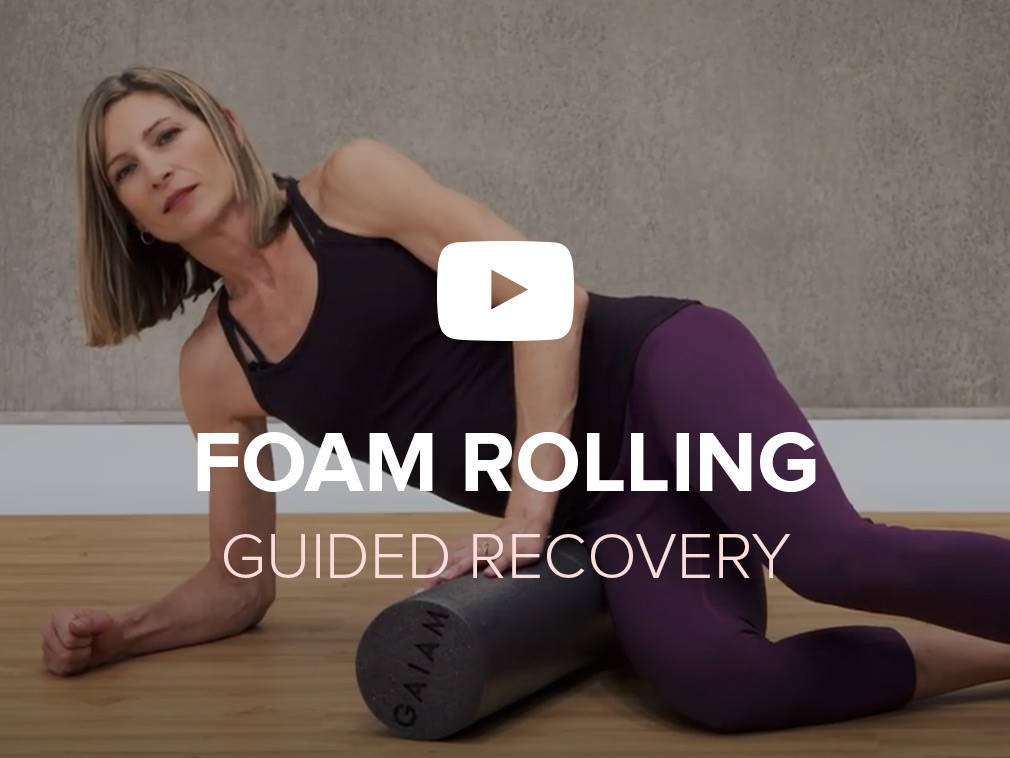 Foam rolling exercise guides