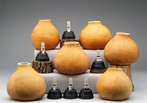 Box of 6 Gourd Pots with LED Lamp Kits (5