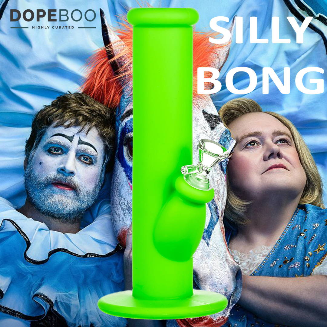 2018 Emmy's with Hulu's Baskets + Silly Silicone Straight Tube Bong at DopeBoo.com