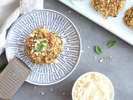 Galettes végétales avec de la pvt, recette de Isabelle Huot
