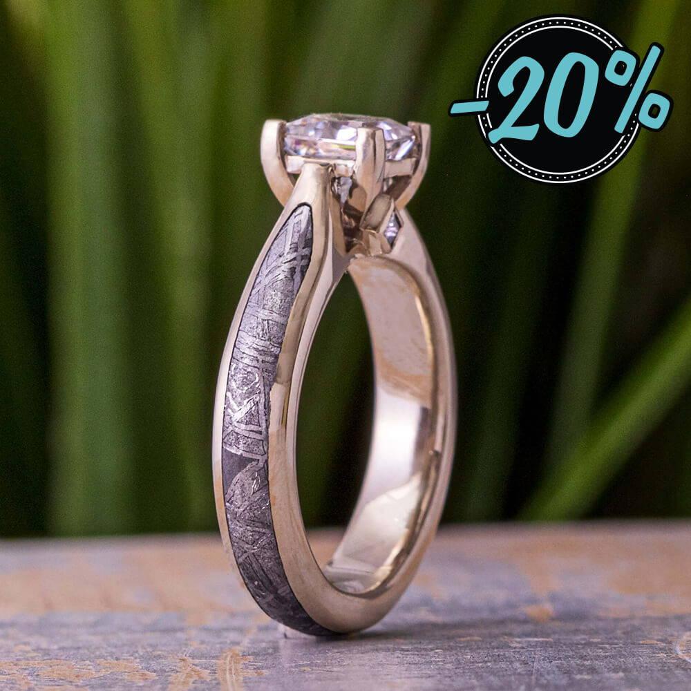 Meteorite Engagement Rings