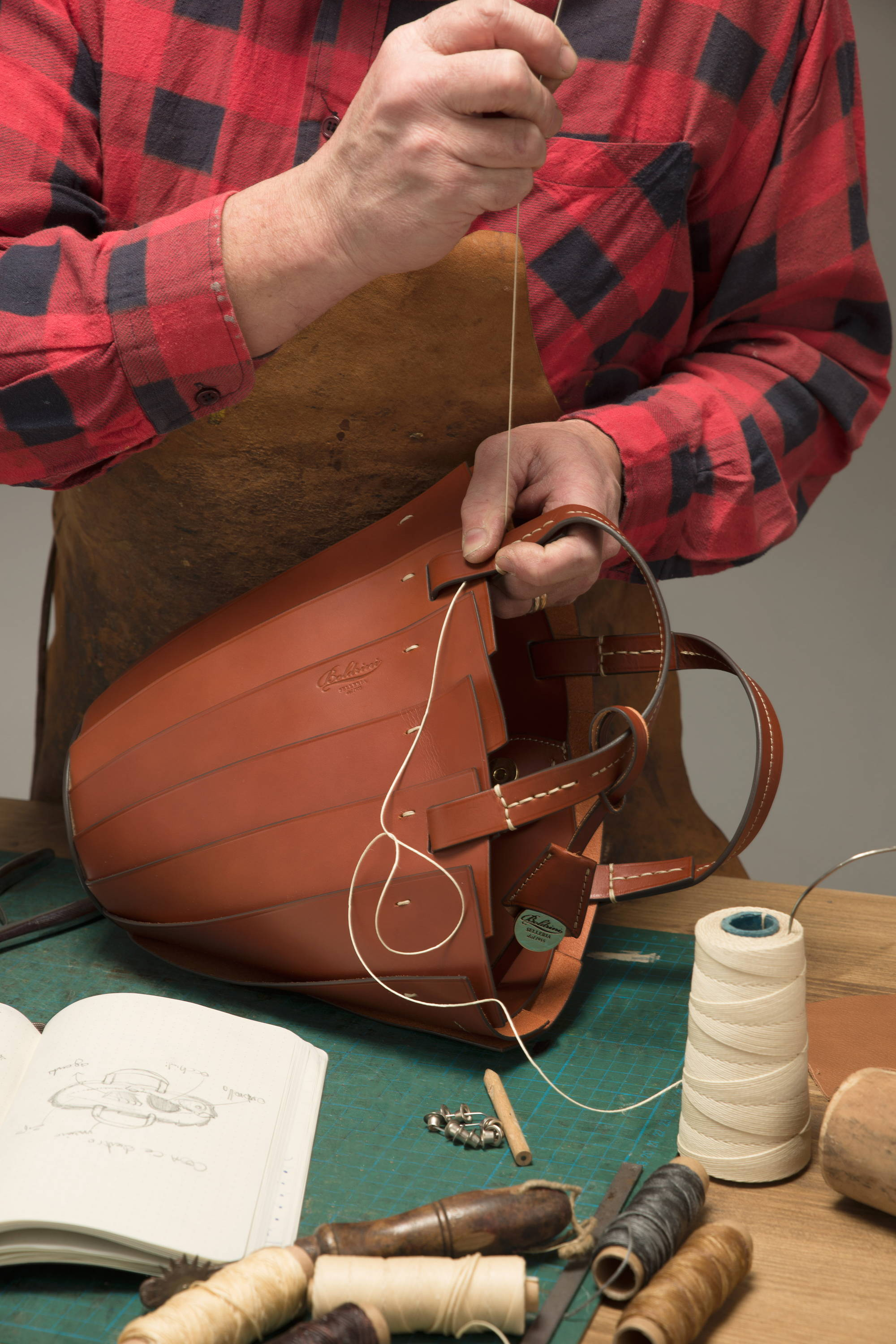 Balletto Leather Bag Made in Italy