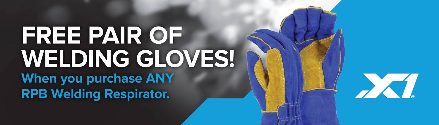 Free pair of welding gloves with every air supplied respirator for welding