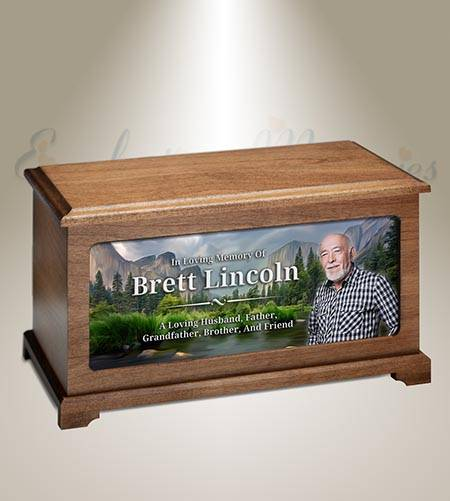 Mountain Valley Photo Funeral Urn