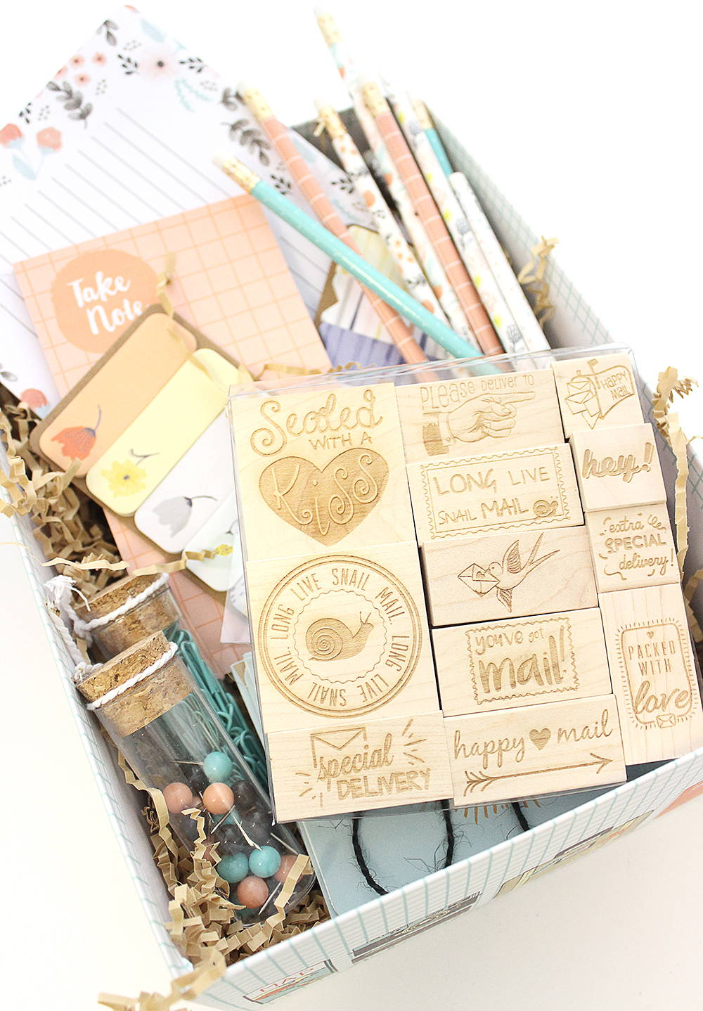 How to Craft the Perfect Happy Mail Care Package | RubberStamps com