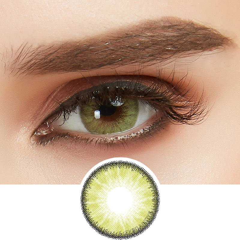 lush green contact lenses with color