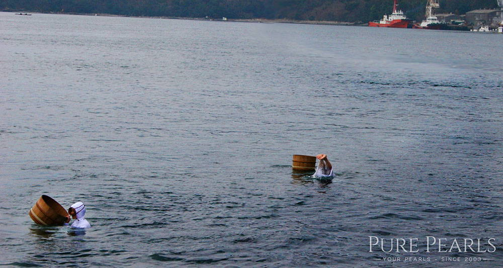 Ama Pearl Divers at the Japanese Akoya Pearl Farms