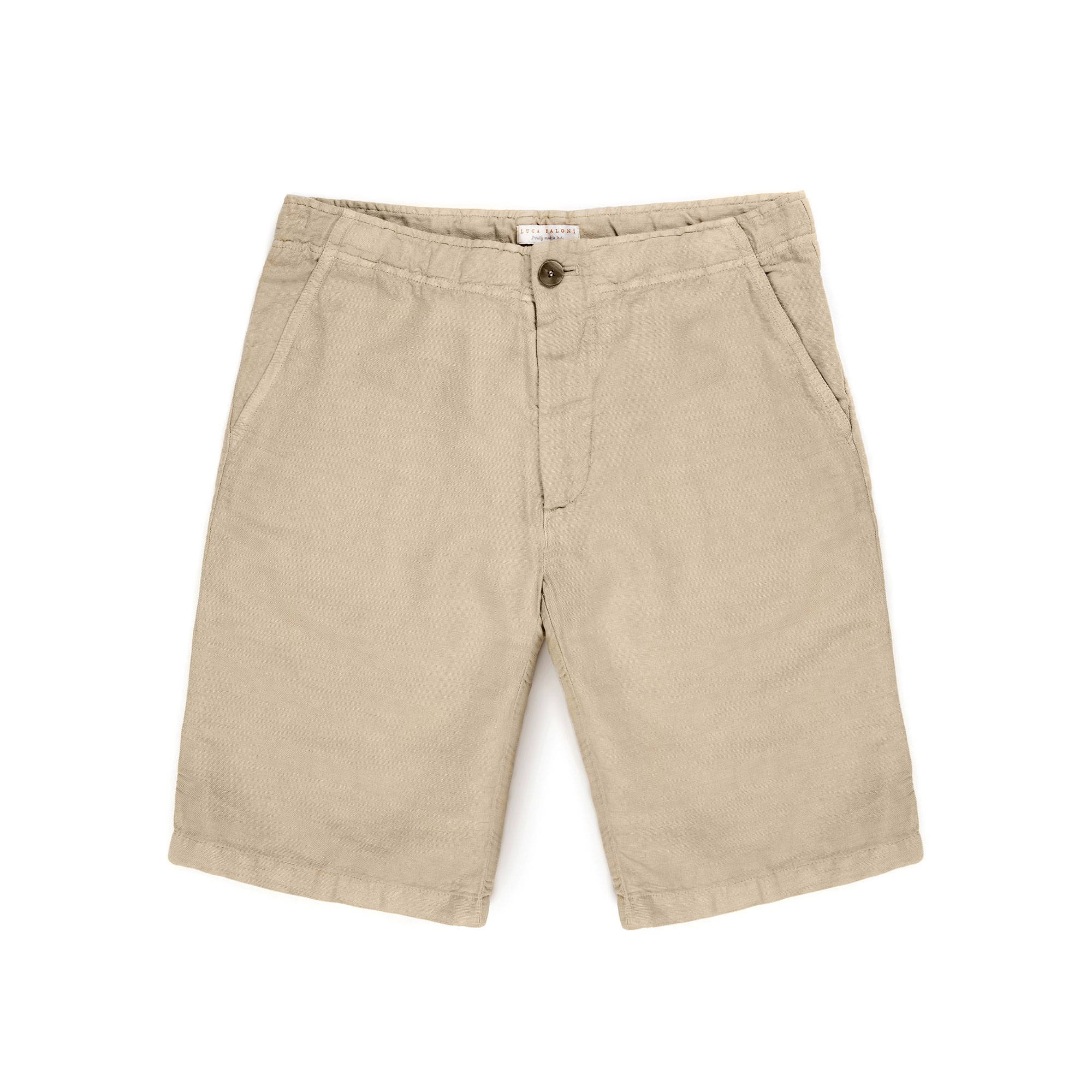 Luca Faloni Sand Panarea Linen Shorts Made in Italy