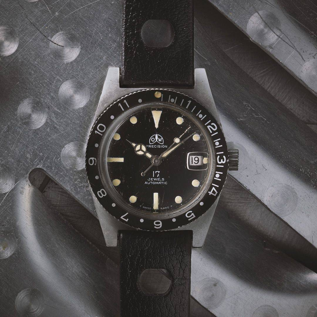Ollech and Wajs Zurich 1956 OW vintage watch Swiss made Aqua Guard OW405