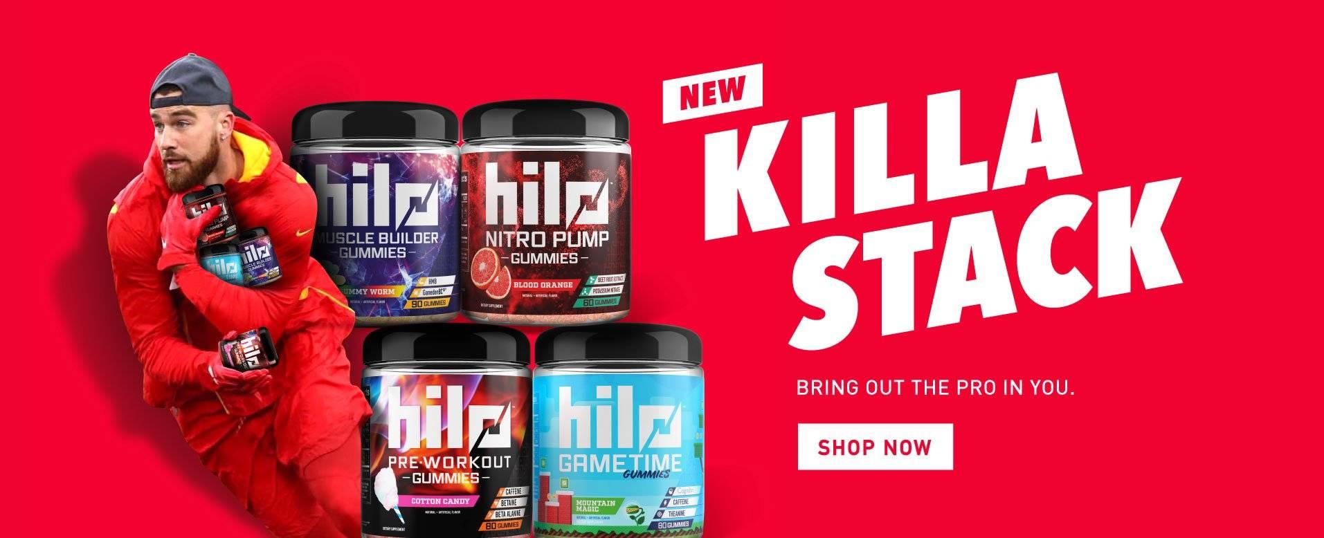 Hilo Gummies Killa Stack Travis Kelce Shop Now