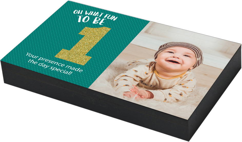 Personalized First Birthday Return Gift With Photo