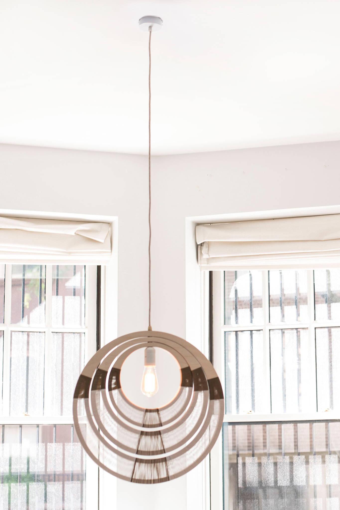 WOVEN NECKLACE PENDANT LIGHTING - WHITE $ 485