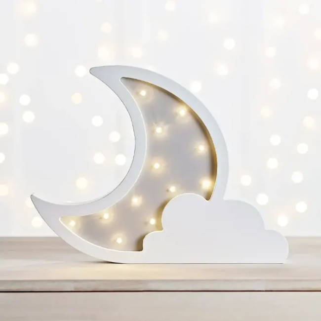 childrens cloud moon wall light