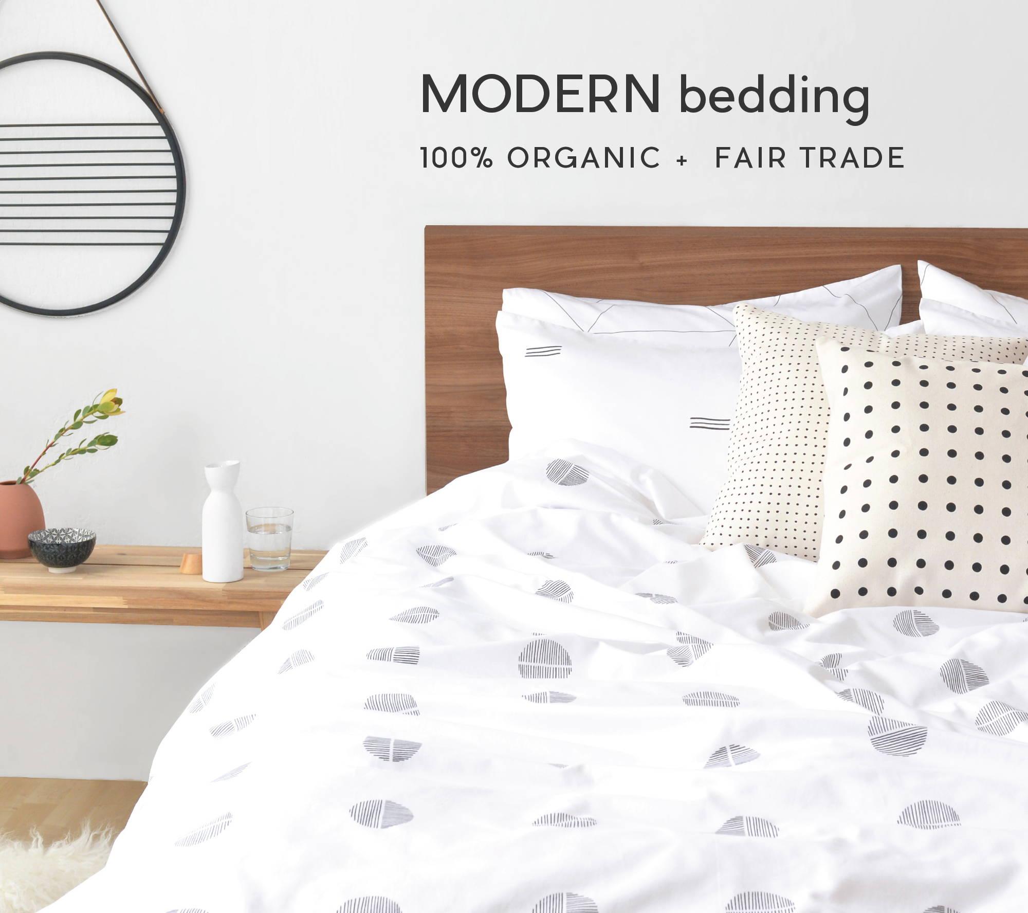 modern organic duvet ans sheets