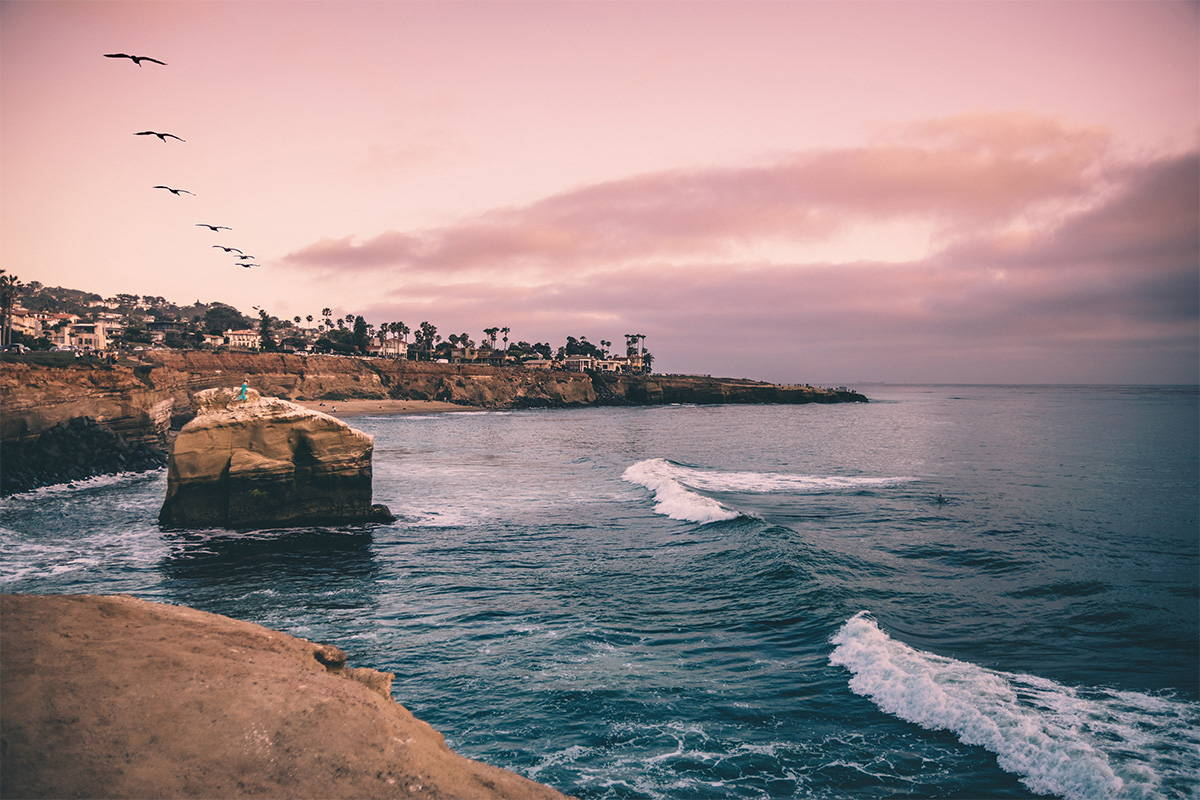 Sunset Cliffs in San Diego