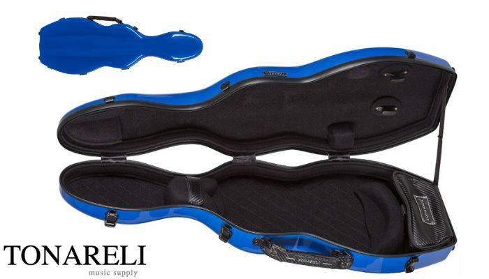 Tonareli Fiberglass Violin Case blue