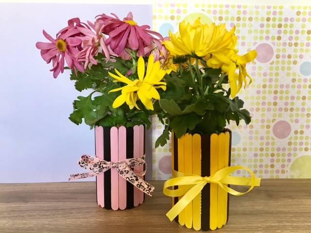 Mothers Day Popsical stick flower pot