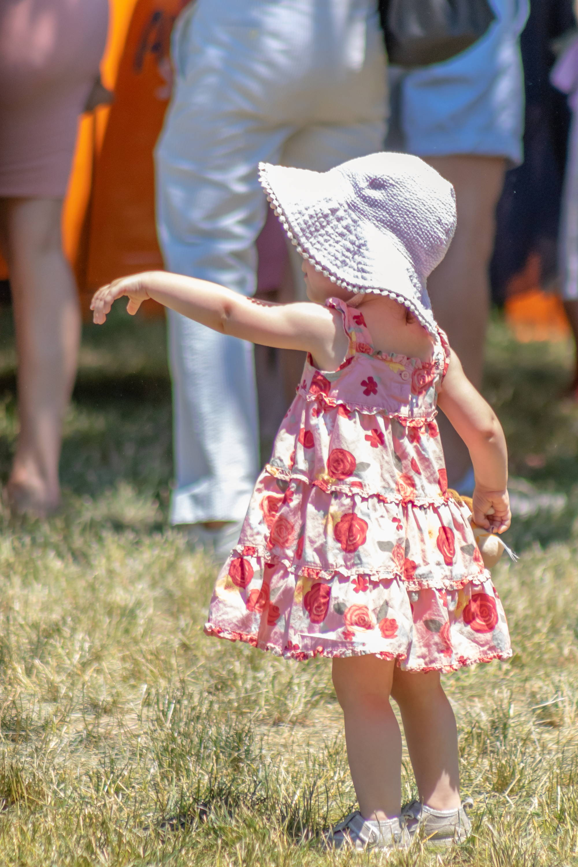 baby girl sun hat pink seersucker