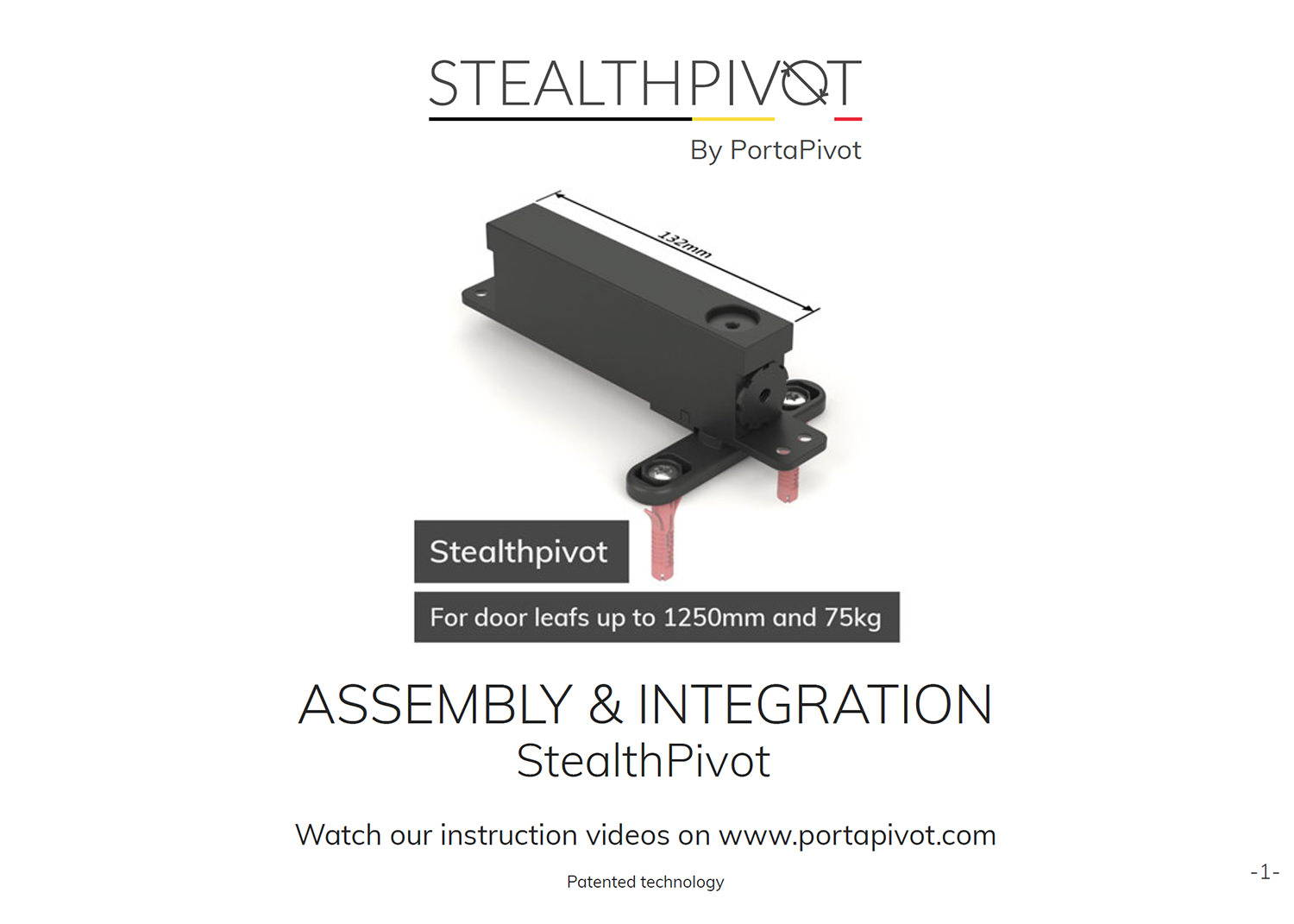 Stealth Pivot assembly and installation manual