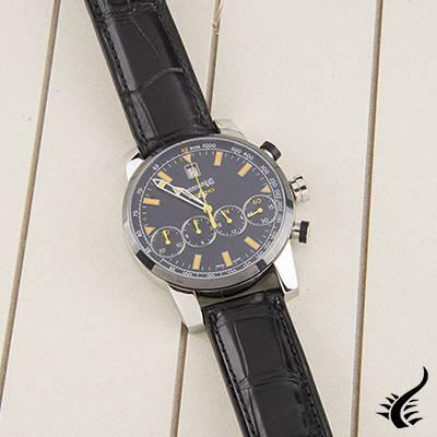 Automatic Watch Eberhard Chrono 4 Colors, ETA-2894-2, DLC, 43mm, Limited. Ed.