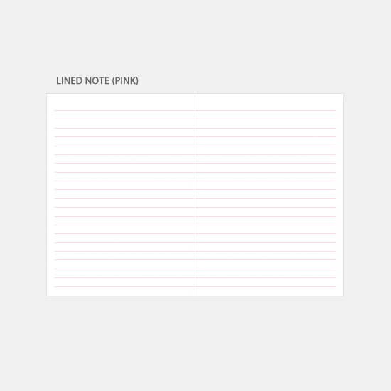 Lined note - 3AL Hello 2020 small dated weekly diary planner