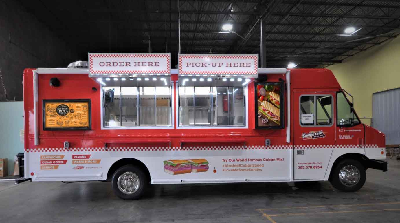 The Display Shield Food Truck Digital Signage