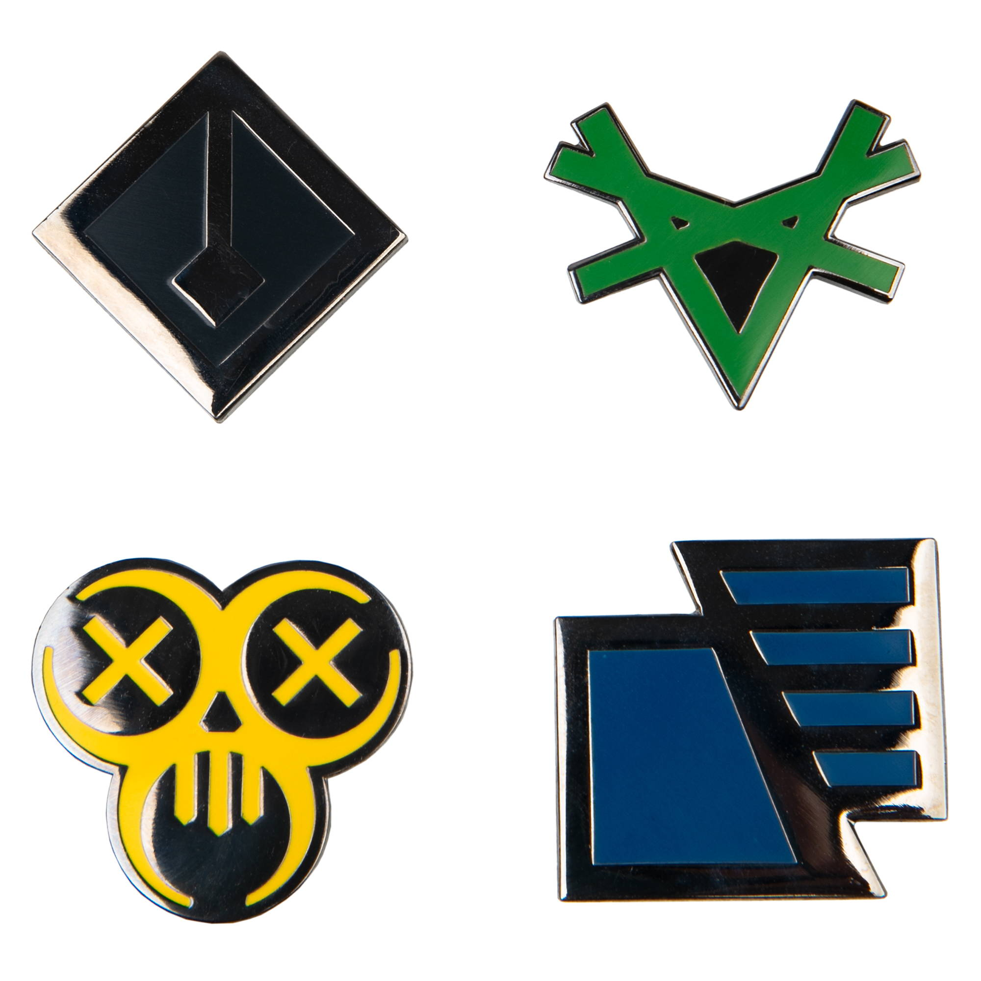 Product images of the The Division 2 Factions Enamel Pin Set