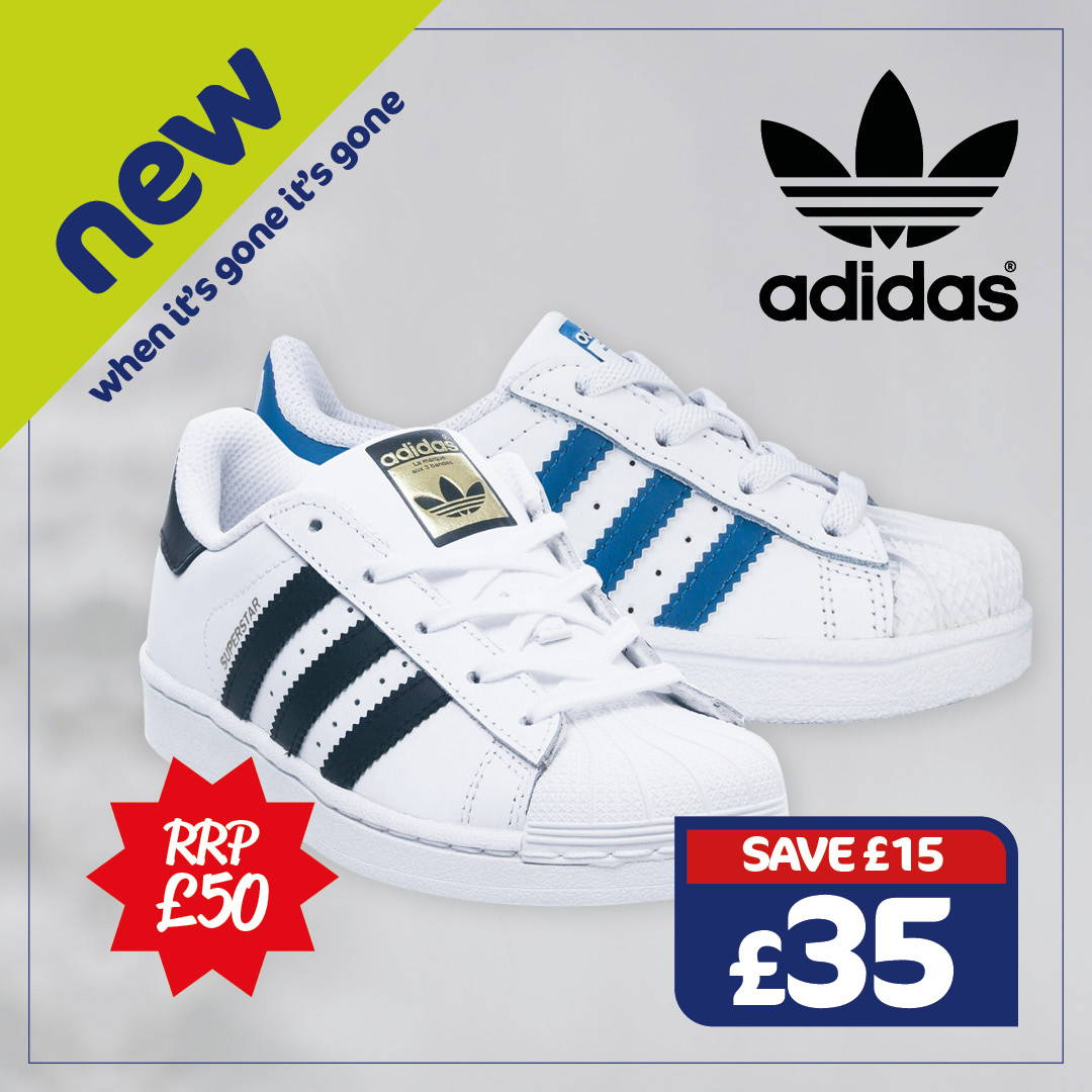 New Adidas Kids Originals Superstar Trainers - Only £35, RRP £50 , Save £15. When It's Gone It's Gone.