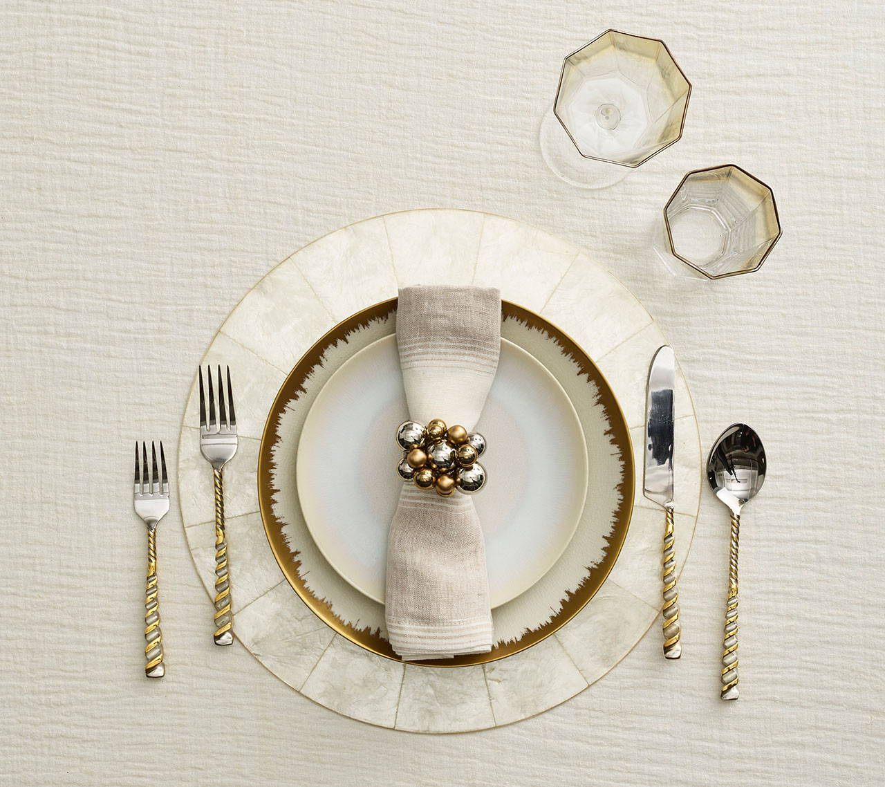 A classic table setting