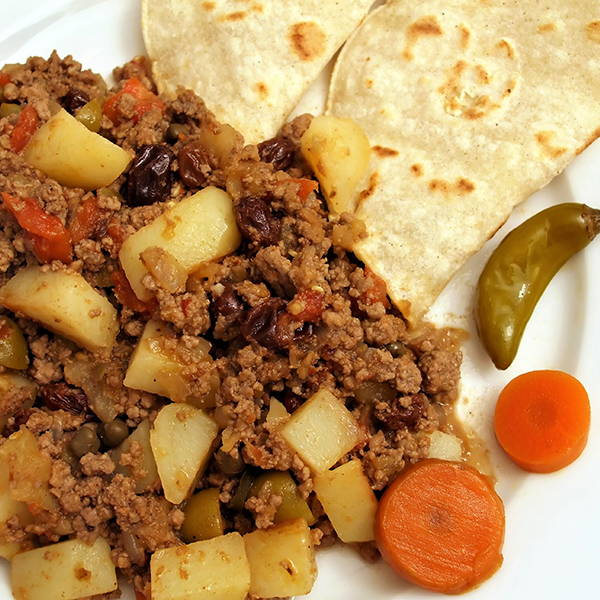 High Quality Organics Express Picadillo with potatoes and beans and carrots