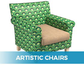 Artistic, Unique Arm Chairs