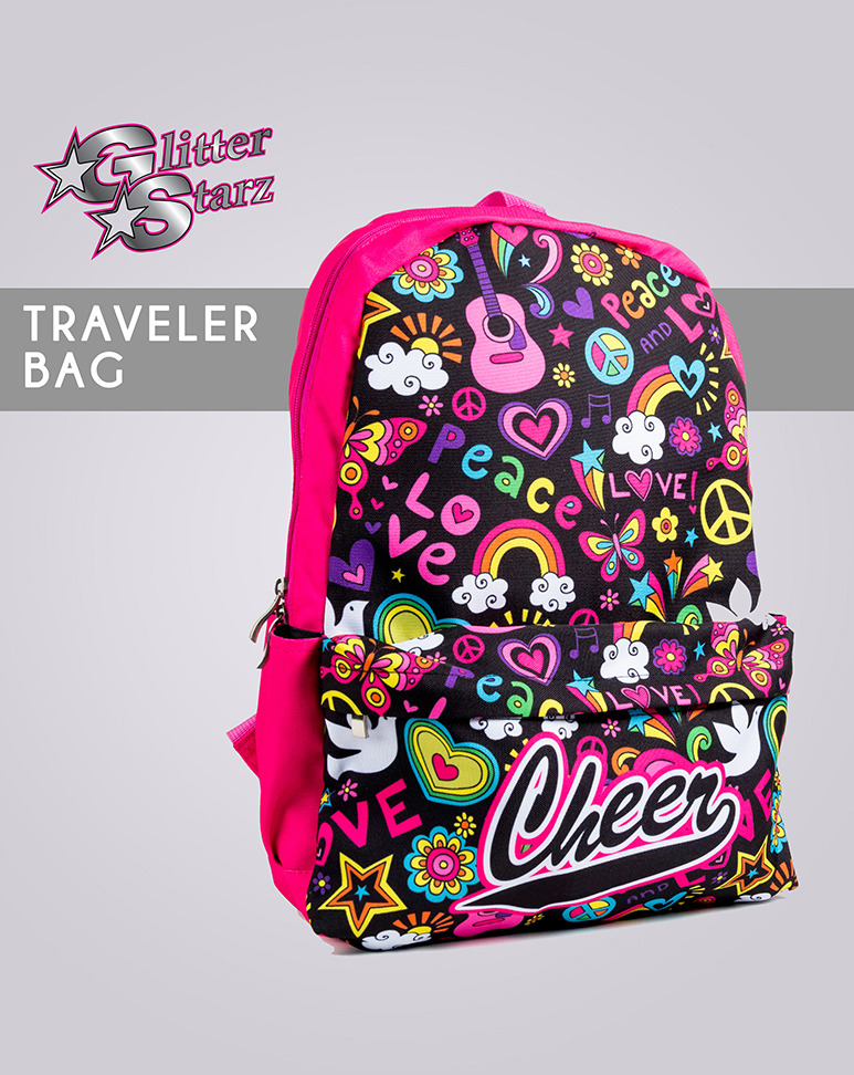 dyesub traveler bag glitterstarz custom cheer dance sublimated pink