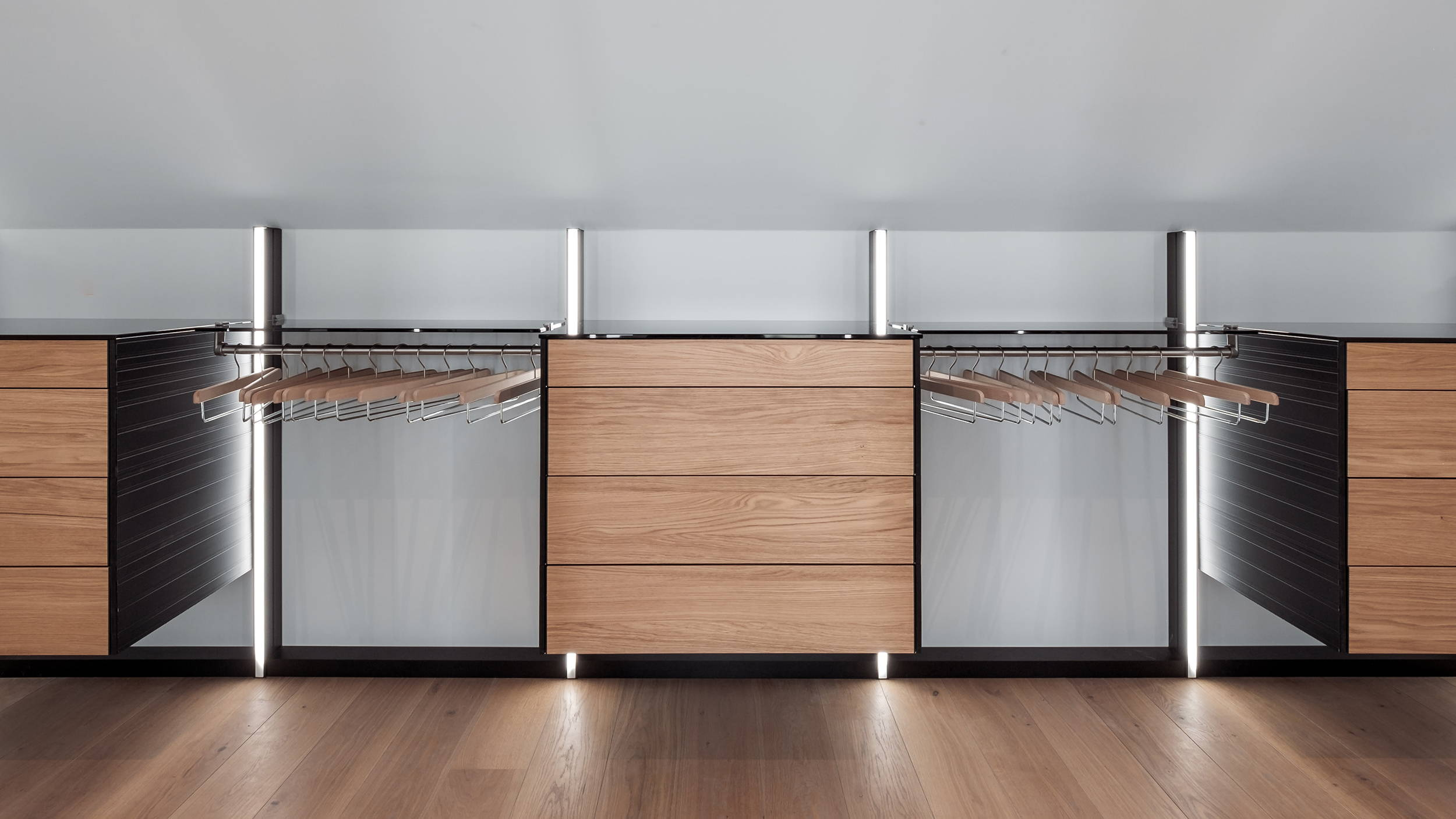 walk-in closet drawers