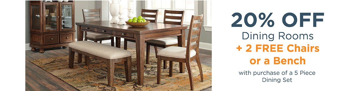 20% off Dining Rooms