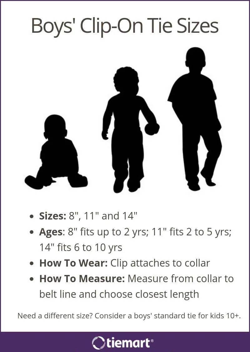 Infant Boys Blue and Black Stripe 8 Inch Clip Tie