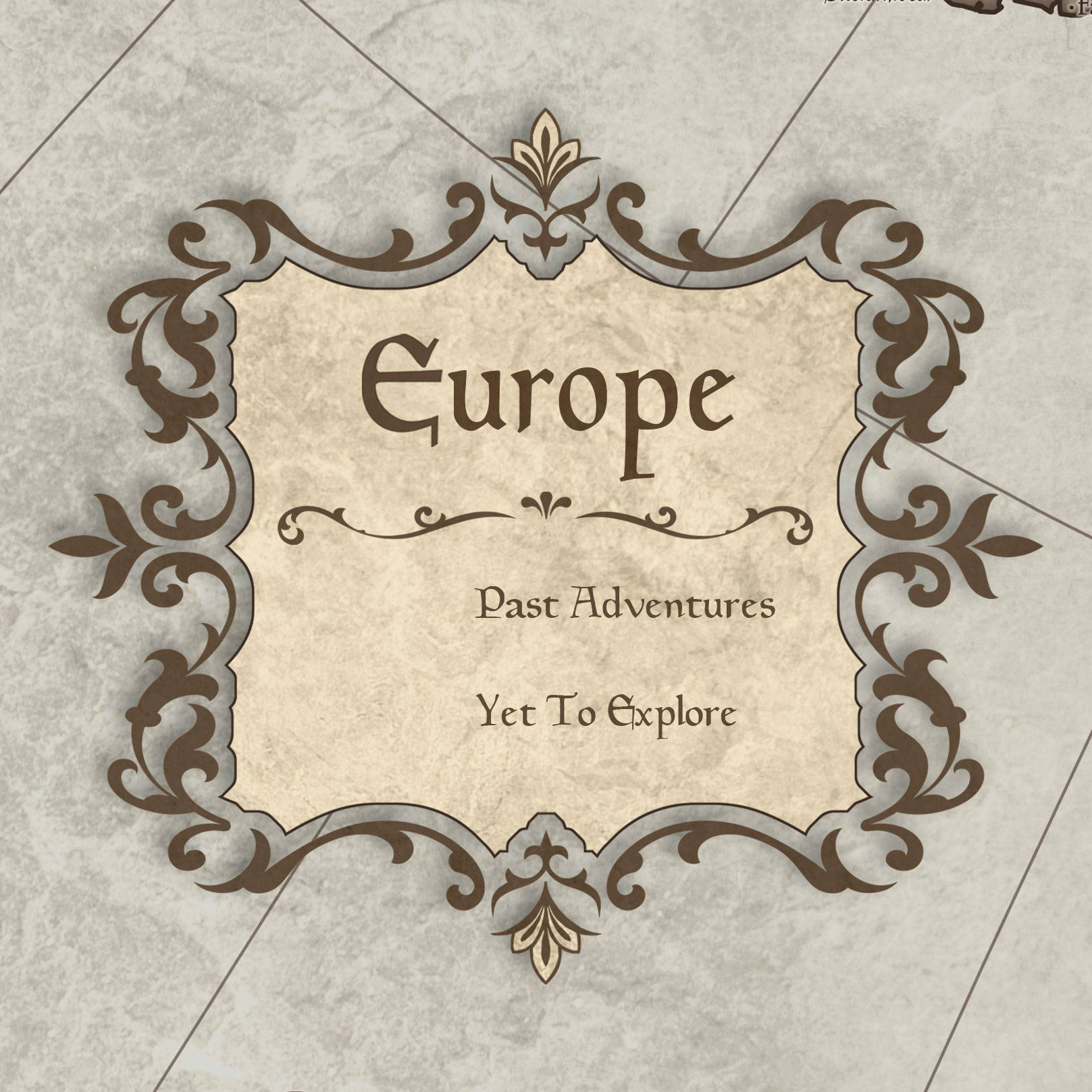 Conquest Maps Rustic Vintage Europe Legend